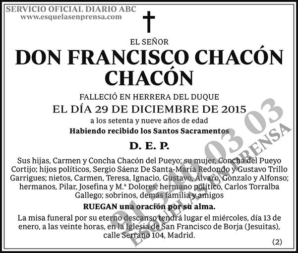 Francisco Chacón Chacón